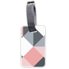 Pink, Gray, And White Geometric Luggage Tag (one Side) by mccallacoulture