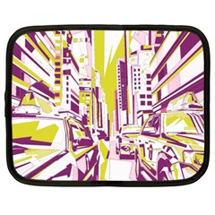 City Street Netbook Case (xxl) by mccallacoulture