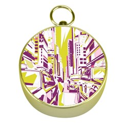 City Street Gold Compasses by mccallacoulture