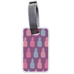 Pineapple Wallpaper Pattern 1462307008mhe Luggage Tag (one Side)