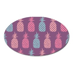Pineapple Wallpaper Pattern 1462307008mhe Oval Magnet