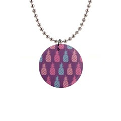 Pineapple Wallpaper Pattern 1462307008mhe 1  Button Necklace
