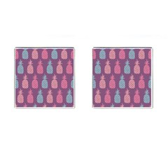Pineapple Wallpaper Pattern 1462307008mhe Cufflinks (square)