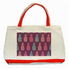 Pineapple Wallpaper Pattern 1462307008mhe Classic Tote Bag (red)