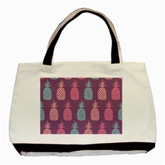 Pineapple Wallpaper Pattern 1462307008mhe Basic Tote Bag (two Sides)