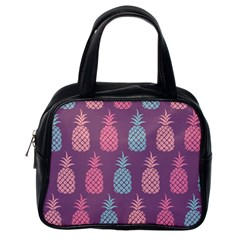 Pineapple Wallpaper Pattern 1462307008mhe Classic Handbag (one Side)