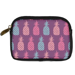 Pineapple Wallpaper Pattern 1462307008mhe Digital Camera Leather Case
