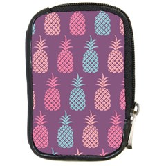Pineapple Wallpaper Pattern 1462307008mhe Compact Camera Leather Case