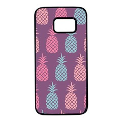 Pineapple Wallpaper Pattern 1462307008mhe Samsung Galaxy S7 Black Seamless Case