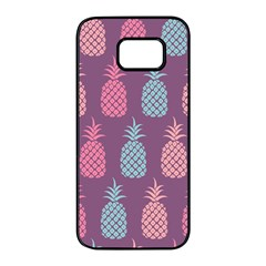 Pineapple Wallpaper Pattern 1462307008mhe Samsung Galaxy S7 Edge Black Seamless Case