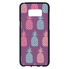 Pineapple Wallpaper Pattern 1462307008mhe Samsung Galaxy S8 Plus Black Seamless Case