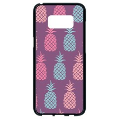 Pineapple Wallpaper Pattern 1462307008mhe Samsung Galaxy S8 Black Seamless Case