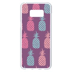 Pineapple Wallpaper Pattern 1462307008mhe Samsung Galaxy S8 Plus White Seamless Case