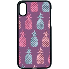 Pineapple Wallpaper Pattern 1462307008mhe Iphone Xs Seamless Case (black)
