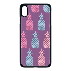 Pineapple Wallpaper Pattern 1462307008mhe Iphone Xs Max Seamless Case (black)