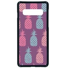 Pineapple Wallpaper Pattern 1462307008mhe Samsung Galaxy S10 Seamless Case(black)