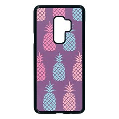 Pineapple Wallpaper Pattern 1462307008mhe Samsung Galaxy S9 Plus Seamless Case(black)