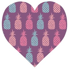 Pineapple Wallpaper Pattern 1462307008mhe Wooden Puzzle Heart