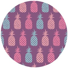 Pineapple Wallpaper Pattern 1462307008mhe Wooden Puzzle Round