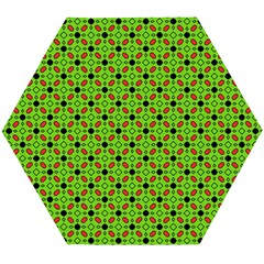 Texture Seamless Christmas Wooden Puzzle Hexagon