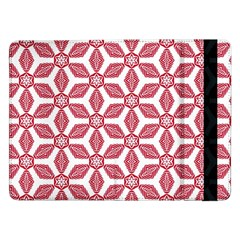 White Red Flowers Texture Samsung Galaxy Tab Pro 12 2  Flip Case