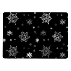 Christmas Snowflake Seamless Pattern With Tiled Falling Snow Samsung Galaxy Tab 10 1  P7500 Flip Case by Vaneshart
