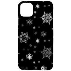 Christmas Snowflake Seamless Pattern With Tiled Falling Snow Iphone 11 Pro Max Black Uv Print Case