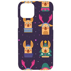 Funny Christmas Pattern With Reindeers Iphone 11 Pro Black Uv Print Case
