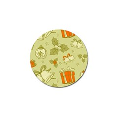Vintage Christmas Pattern Golf Ball Marker by Vaneshart
