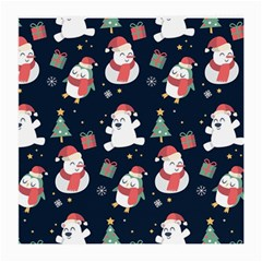 Colourful Funny Christmas Pattern Medium Glasses Cloth (2 Sides) by Vaneshart