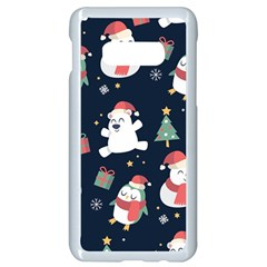 Colourful Funny Christmas Pattern Samsung Galaxy S10e Seamless Case (white)
