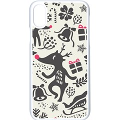 Hand Drawn Pattern Christmas Iphone X Seamless Case (white)
