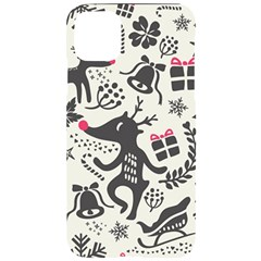 Hand Drawn Pattern Christmas Iphone 11 Pro Max Black Uv Print Case