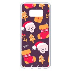 Pattern Christmas Funny Samsung Galaxy S8 Plus White Seamless Case by Vaneshart