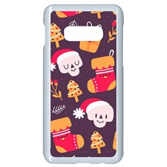 Pattern Christmas Funny Samsung Galaxy S10e Seamless Case (white)