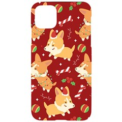 Colorful Funny Christmas Pattern Dog Puppy Iphone 11 Pro Max Black Uv Print Case