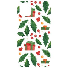 Christmas Seamless Pattern With Holly Red Gift Box Iphone 11 Black Uv Print Case