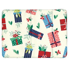 Christmas Gifts Pattern With Flowers Leaves Samsung Galaxy Tab 7  P1000 Flip Case