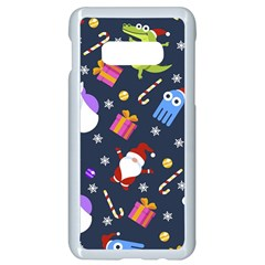 Colorful Funny Christmas Pattern Samsung Galaxy S10e Seamless Case (white)