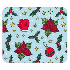 Colorful Funny Christmas Pattern Double Sided Flano Blanket (small)