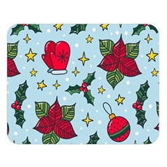 Colorful Funny Christmas Pattern Double Sided Flano Blanket (large)