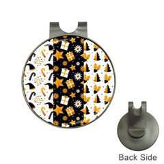 Black Golden Christmas Pattern Collection Hat Clips With Golf Markers