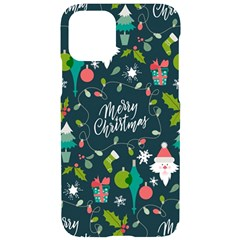 Funny Christmas Pattern Background Iphone 11 Pro Black Uv Print Case