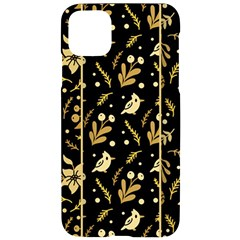 Golden Christmas Pattern Collection Iphone 11 Pro Max Black Uv Print Case