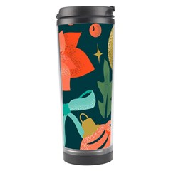 Colorful Vintage Christmas Pattern Travel Tumbler by Vaneshart
