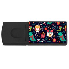 Colorful Funny Christmas Pattern Rectangular Usb Flash Drive