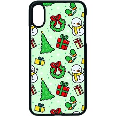 Colorful Funny Christmas Pattern Cartoon Iphone X Seamless Case (black)