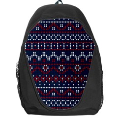 Christmas Concept With Knitted Pattern Backpack Bag by Vaneshart