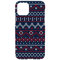 Christmas Concept With Knitted Pattern Iphone 11 Pro Black Uv Print Case
