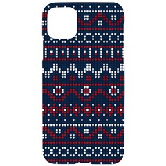 Christmas Concept With Knitted Pattern Iphone 11 Pro Max Black Uv Print Case